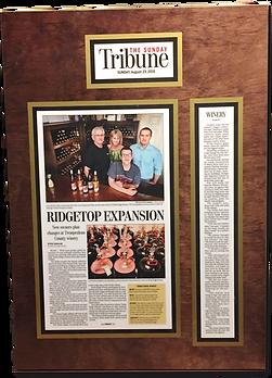 Tenba Ridge Winery Story