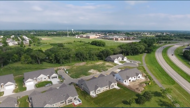 Drone View of Stonehedge Townhome Development