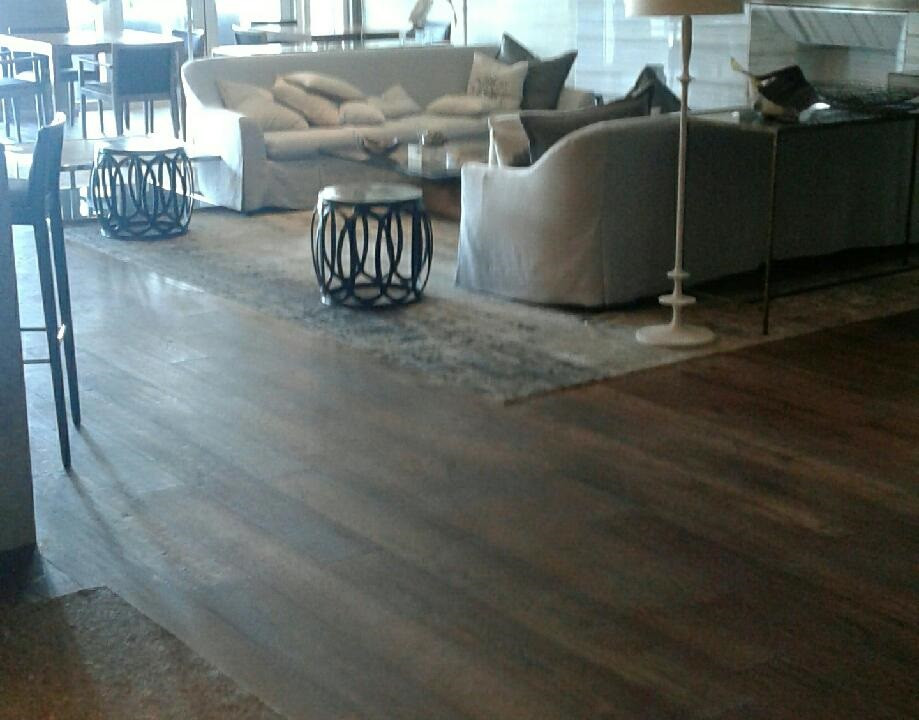 Hand rubbed oil on European White Oak.  Done on site at the Trump Towers in Hollywood, FL