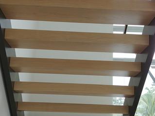 White Oak Floating Staircase