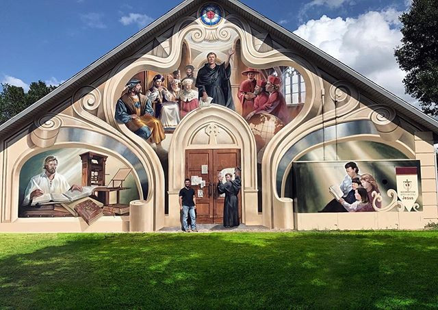 Final mural of the Reformation. This is