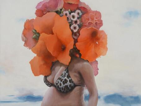 07/12/19-ATELIER RU XIAOFAN   Visages floraux à l'encre de chine et collages