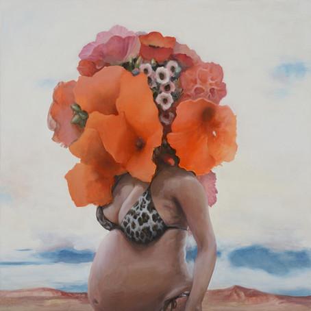 07/12/19-ATELIER RU XIAOFAN | Visages floraux à l'encre de chine et collages