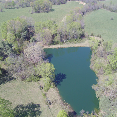 Drone view of pond