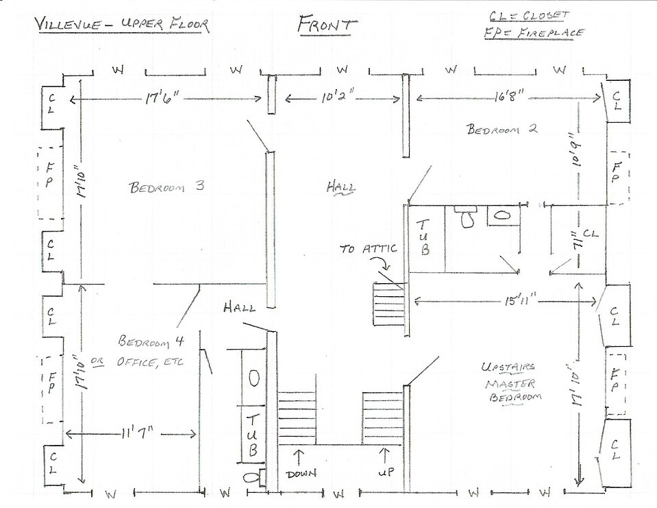 Second Floor Sketch
