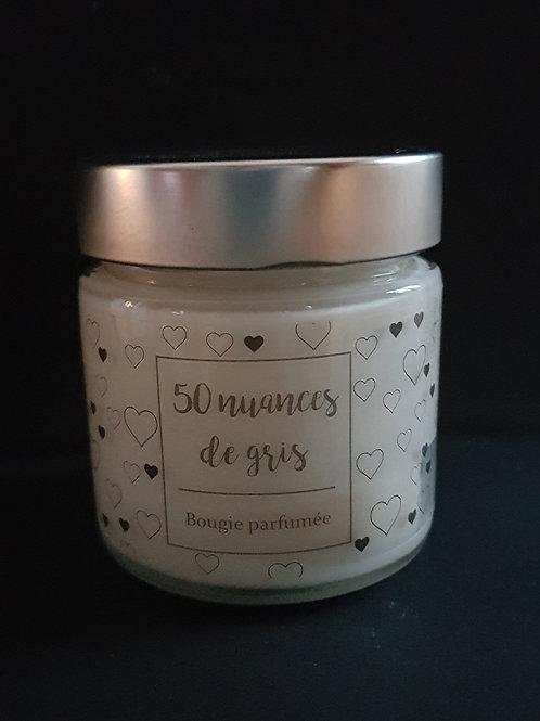 Bougie parfumée 50 nuances de gris 👄