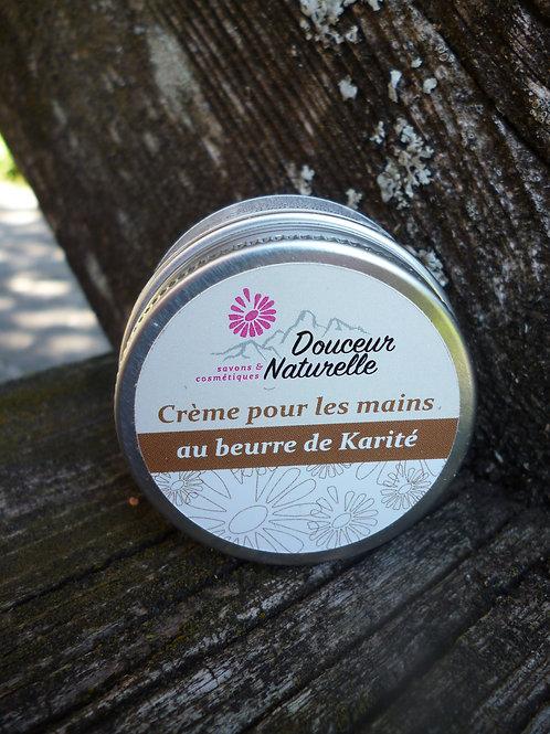Créme pour les mains au beurre de Karité