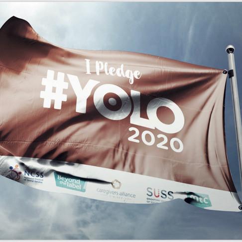 #YOLO2020: Branding, Website, T-Shirt & Flag