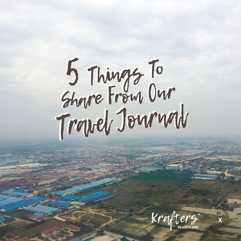 5 Things to Share From Our Travel Journal