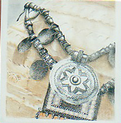 Jewelery on Pot B&W