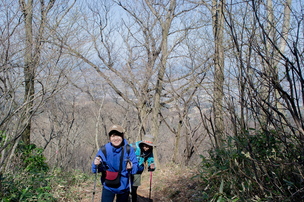 大沢尾根コースからの登山道中