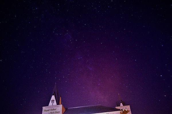 ロイヤル胎内パークホテルの星空