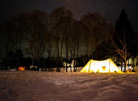 雪中キャンプ初開催!