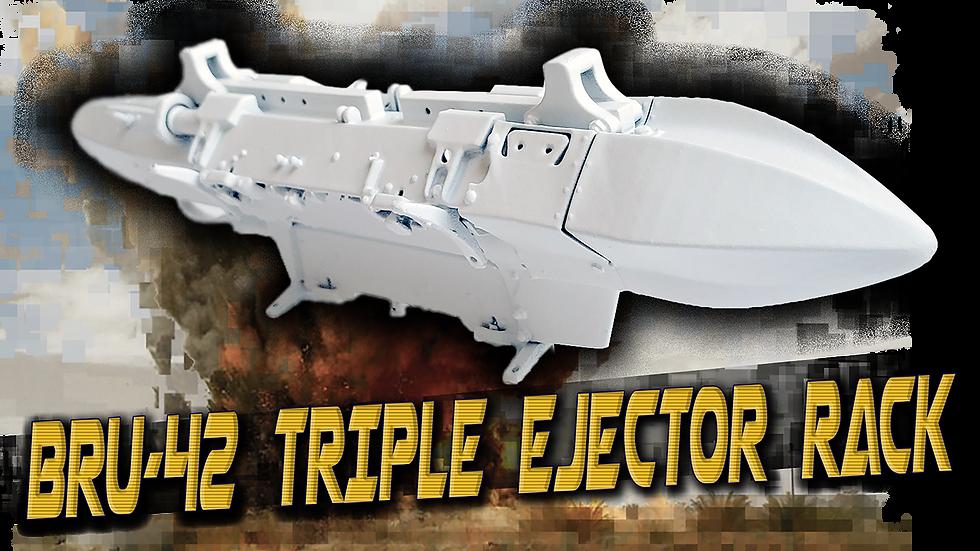 1/4 BRU-42 Triple Ejector Rack