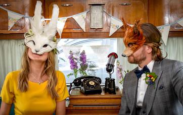 Bride & Groom at Beryl Vintage Photoshoot