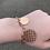 "Thumbnail: 8"" Rose Gold Plated Silver Elongated Bracelet"