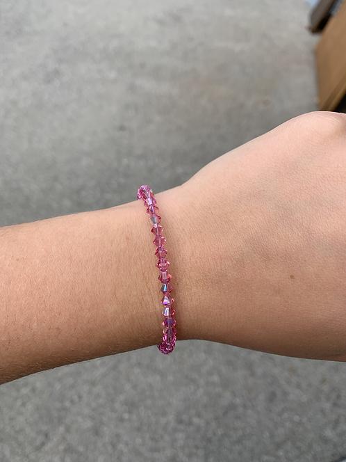 Rose (October Birthstone) Swarovski Crystal Bracelet