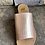 Thumbnail: Sahara Rose Gold Croc Skin Slide Sandals