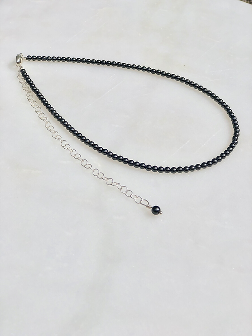 """13-18"""" Black Pearl Necklace/Choker"""