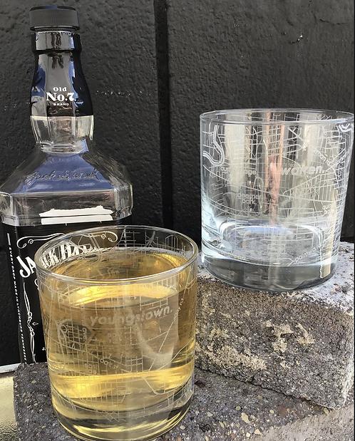 Warren/Youngstown City Rocks glass