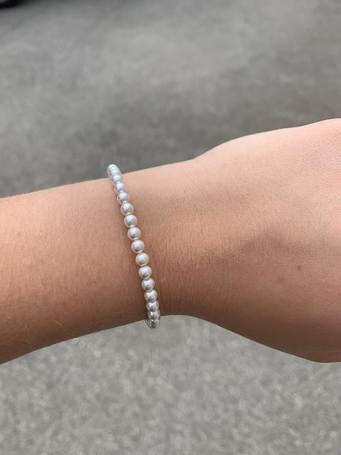 White Pearl (June Birthstone) Swarovski Crystal Bracelet