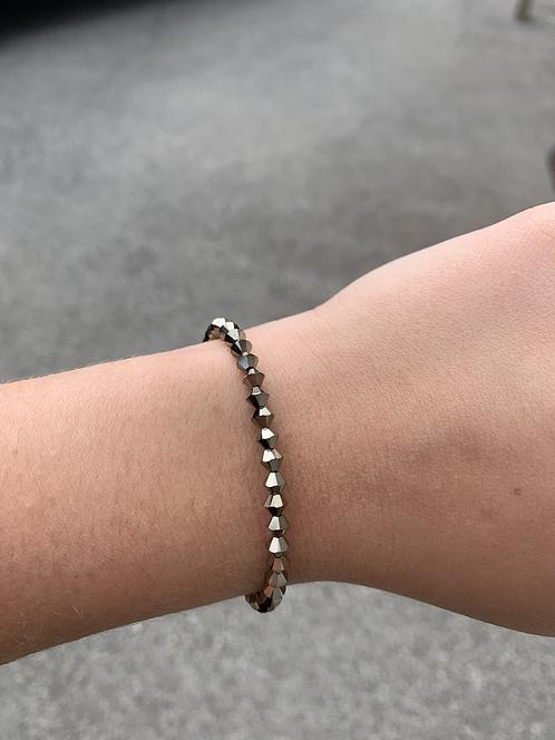 Light Gold Metallic Swarovski Crystal Bracelet