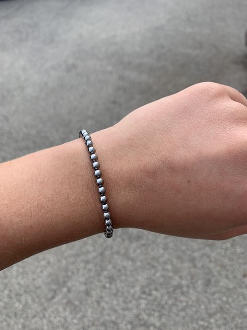 Grey Pearl Swarovski Crystal Bracelet