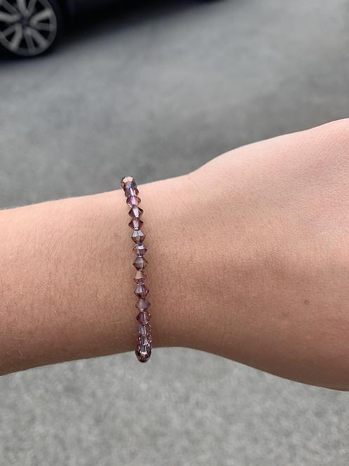 Lilac Shadow Swarovski Crystal Bracelet