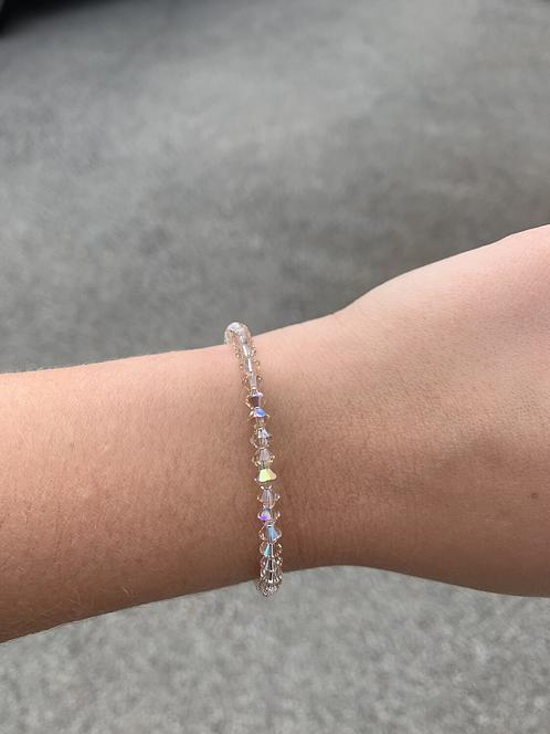 Light Silk Swarovski Crystal Bracelet