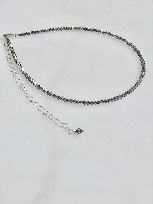"13-18"" Black Diamond Necklace/Choker"
