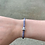 Thumbnail: Grey Camo Leather Magnetic Bracelet with Silver/ Clear Crystal Bead