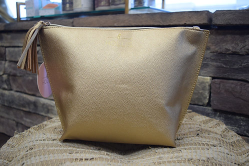 Gold Couture Make Up Travel Bag