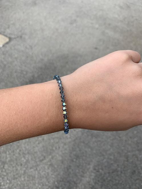 Indian Sapphire Swarovski Crystal Bracelet