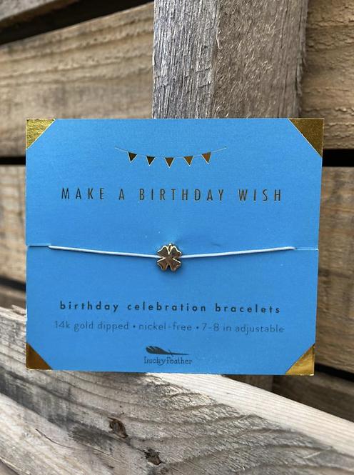 Make A Birthday Wish 14K Gold Dipped Milestone Birthday Bracelet