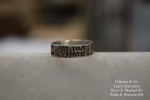 Sterling Silver Custom Stamped Ring