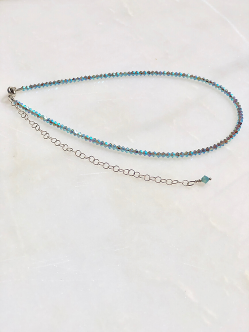 13-18 Turquoise X2 3mm Choker/Necklace
