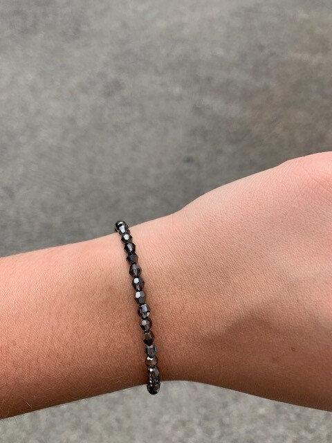 Silver Night Swarovski Crystal Bracelet