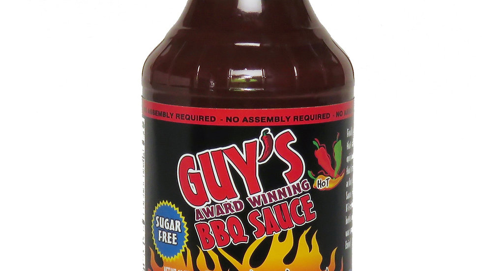 Guy's Award Winning Sugar Free BBQ Sauce 18 oz (Sweet Thunder)