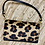 Thumbnail: Leather flap closure small clutch with gold accents