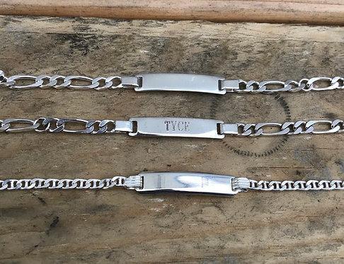 """6"""" sterling children's ID bracelet"""