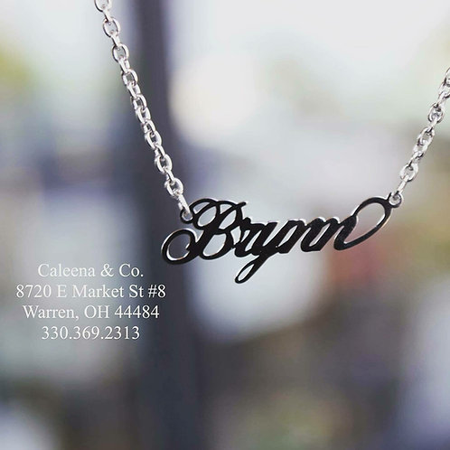 Sterling Silver Name Plate