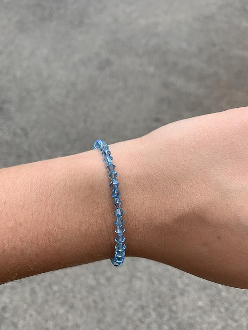 Aquamarine (March Birthstone) Swarovski Crystal Bracelet