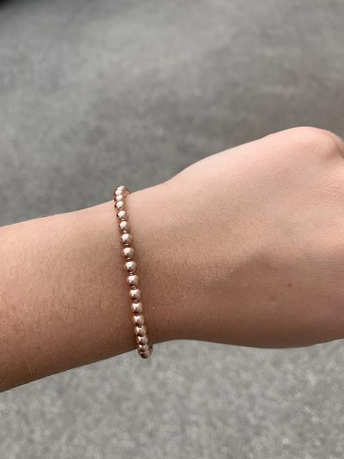Rose Gold Pearl Swarovski Crystal Bracelet