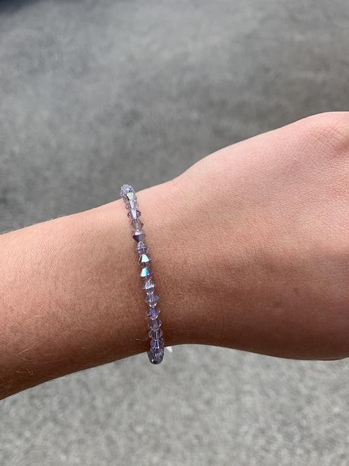 Smokey Mauve Swarovski Crystal Bracelet
