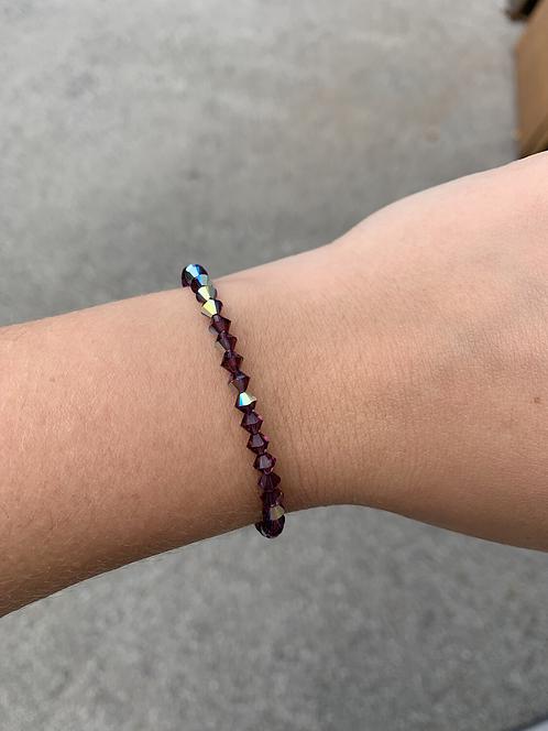 Amethyst (February Birthstone) Swarovski Crystal Bracelet