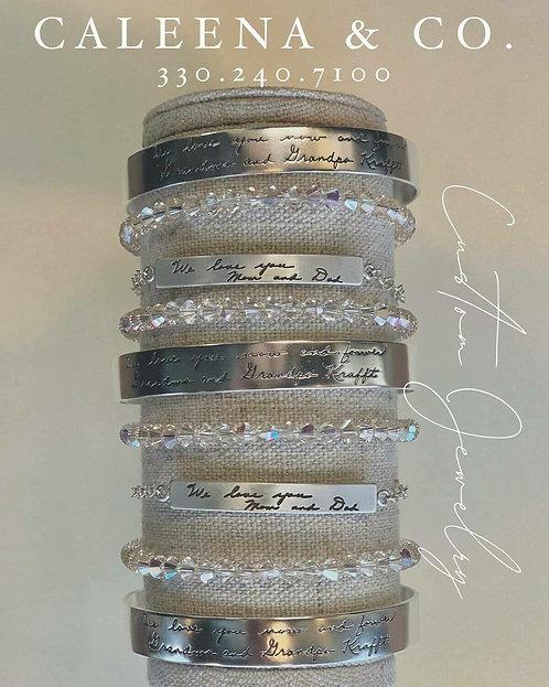 Sterling Silver Cuff Bracelets and Link Bracelets