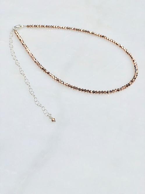 "13-18"" Rose Gold x2 Necklace/Choker"