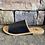 Thumbnail: Sahara Black Croc Skin Slide Sandals