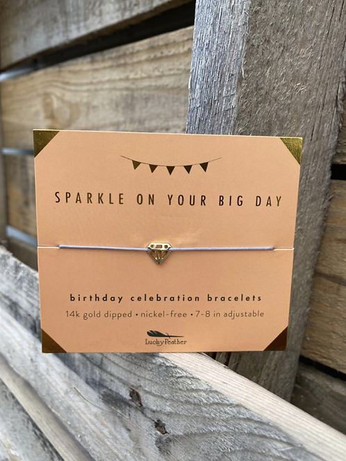 Sparkle On Your Big Day 14k Gold Dipped Milestone Birthday Bracelet
