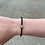 Thumbnail: Black Leather Braided Magnetic Bracelet with All Topaz Bling Bead